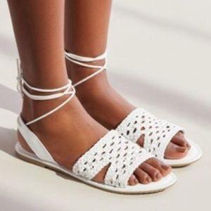 Shoes - Crochet Slingback Sandal